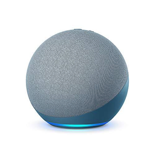 Der neue Echo (4. Generation) | Mit herausragendem Klang, Smart Home-Hub und Alexa | Blaugrau