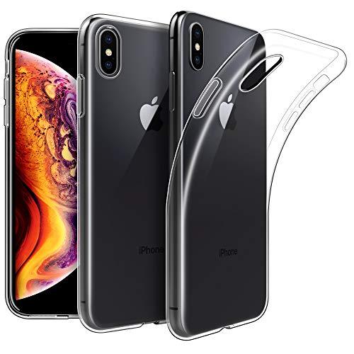 EasyAcc Hülle Case für iPhone XS Max, Crystal Clear Transparent Handyhülle Cover Soft Premium-TPU Durchsichtige Schutzhülle Backcover Slimcase Kompatibel mit iPhone XS Max