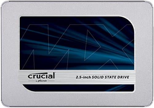 Crucial MX500 CT1000MX500SSD1(Z) 1TB (3D NAND, SATA, 2,5 Zoll, Internes SSD)