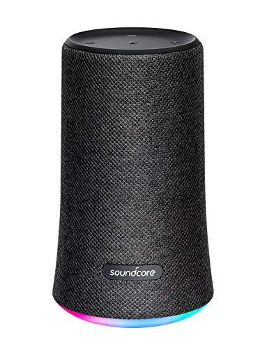 Soundcore Flare Tragbarer & Kompakter Bluetooth Lautsprecher von Anker, 360° Rundum-Sound, Fantastischer Bass & Stimmungs-LED-Licht, IPX7 wasserdichte, 12 St. Spielzeit für Feiern & Partys (Schwarz)
