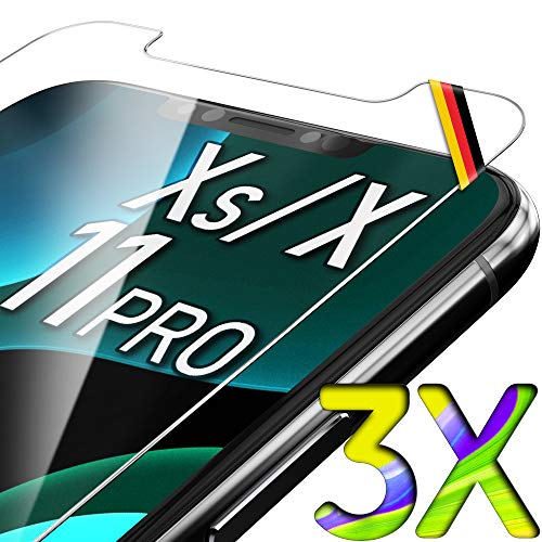 UTECTION 3X Glas Schutzfolie für iPhone 11 PRO, iPhone X/XS (5.8