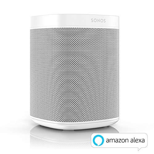 Sonos One Smart Speaker, weiß – Intelligenter WLAN Lautsprecher mit Alexa Sprachsteuerung & AirPlay – Multiroom Speaker für unbegrenztes Musikstreaming