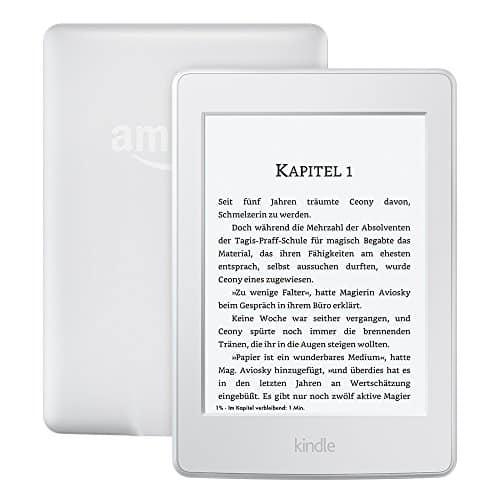 Kindle Paperwhite (Vorgängermodell - 7. Generation) 6 Zoll (15 cm) großes Display, integrierte Beleuchtung, WLAN, Weiß - mit Spezialangeboten