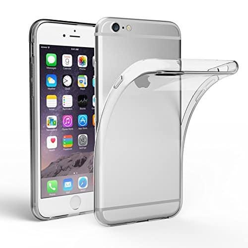 EasyAcc Hülle Case für iPhone 6 6S, Dünn Crystal Clear Transparent Handyhülle Cover Soft Premium-TPU Durchsichtige Schutzhülle Backcover Slimcase Kompatibel mit iPhone 6 6S