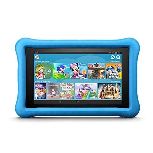 Fire 7 Kids Edition-Tablet, 17,7 cm (7 Zoll) Display, 16 GB, blaue kindgerechte Hülle (vorherige Generation - 7.)
