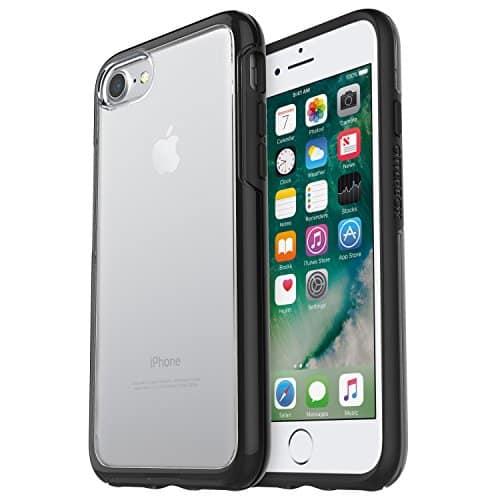 OtterBox Symmetry Clear hoch-transparente sturzsichere Schutzhülle für iPhone 7 / 8, schwarz crystal