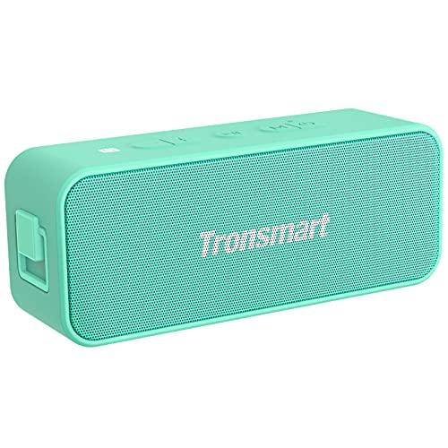 Bluetooth Lautsprecher, Tronsmart T2 Plus Musikbox Bluetooth 5.0 Tragbarer Lautsprecher IPX7 Wasserdicht 20W Bass Lautsprecher mit Stereo Surround Sound Sprachassistent, Grün