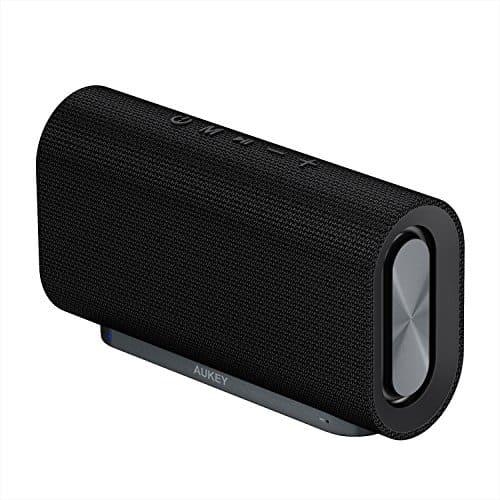 AUKEY Eclipse Bluetooth Lautsprecher 20W Verstärkender Bass mit 12 Stunden Spielzeit und Oberfläche aus Netzgewebe für iPhone, iPad, Echo Dot, Samsung, Android Phones usw. (Neue Version)