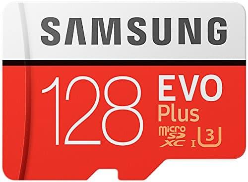 Samsung EVO Plus MicroSDXC Speicherkarte 128 GB UHS Geschwindigkeitsklasse 3, Class 10 (inkl. SD-Adapter) (2017 Modell) [Amazon Frustfreie Verpackung]