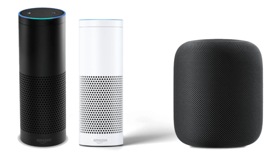Amazon Echo und Apple HomePod
