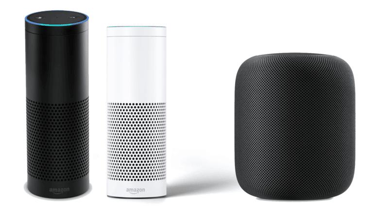 Amazon Echo und Apple HomePod
