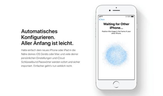 iOS 11 Gerätewechsel