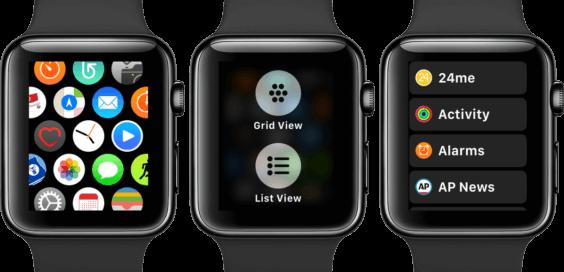 watchOS 4 bietet Listenform von Apps