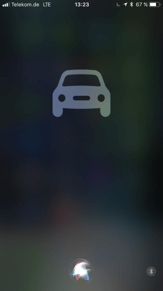 iOS 11 Car Logo und neues Siri Logo