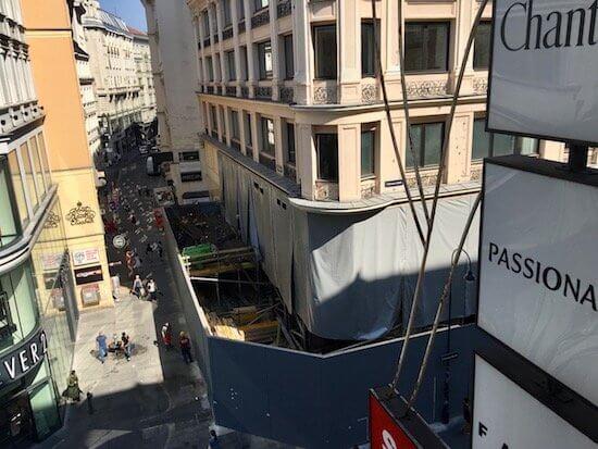 Apple Store Wien Baustelle
