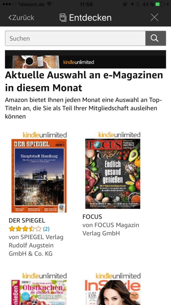 e-Magazine in Kindle Unlimited - Screenshot