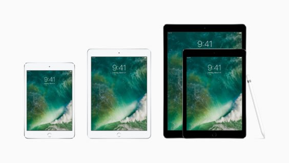 Die iPad Famile 2017 mit Apple Pencil