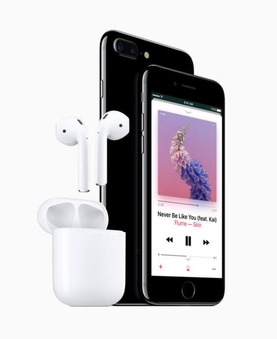 iPhone 7 und iPhone 7 Plus mit den AirPods