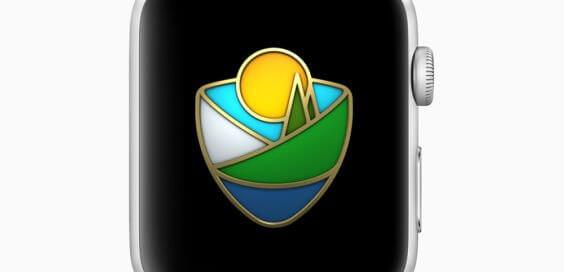 Apple Watch-Medaille zur Feier der Nationalparks