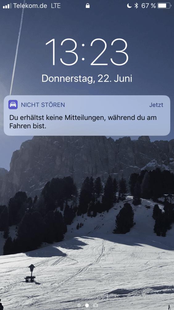 iOS 11 Fahrmodus