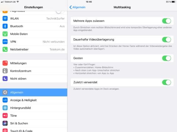 iOS 11 zuletzt verwendet