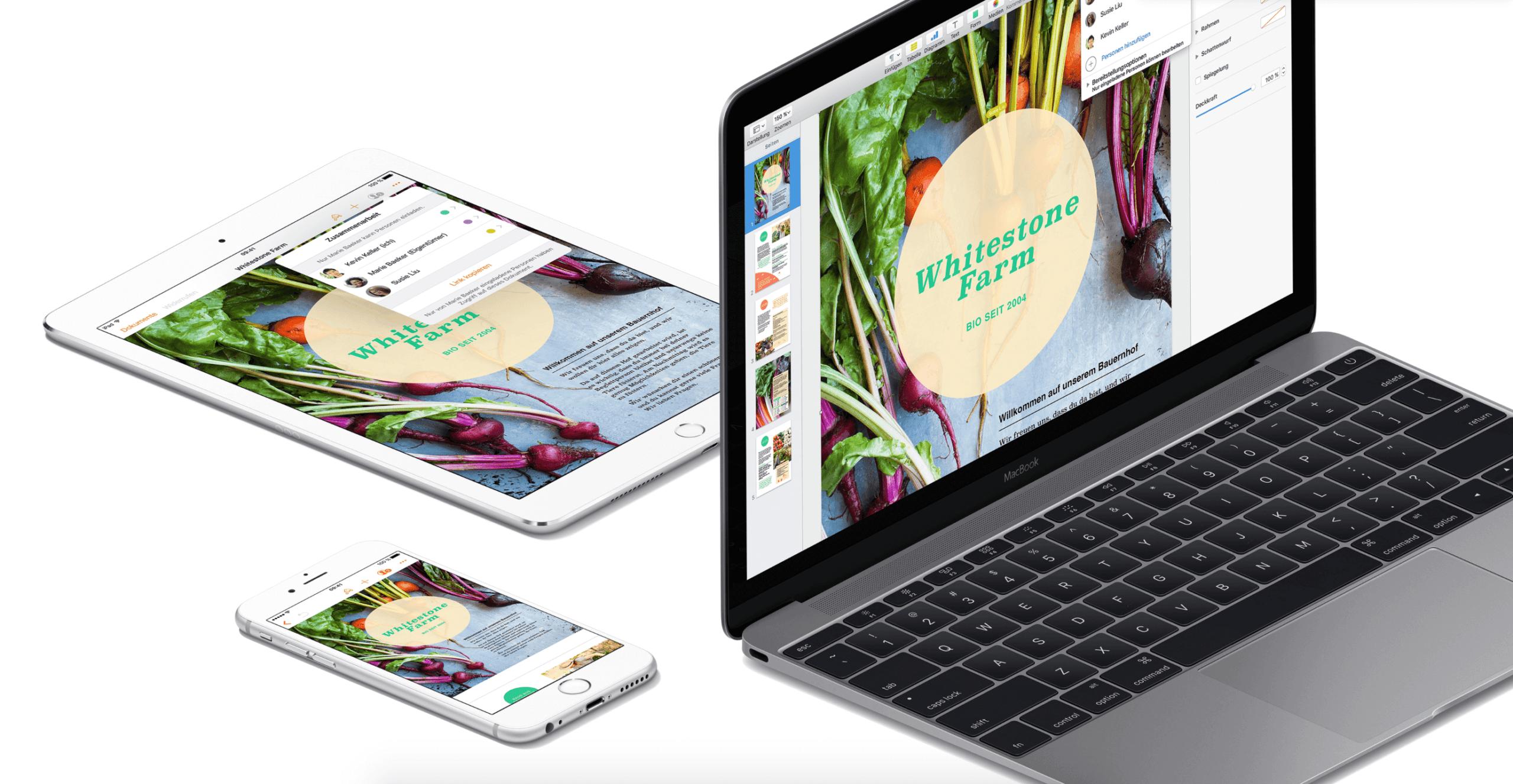 iWork mit Update: Pages, Numbers und Keynote bekommen neue Funktionen unter macOS und iOS