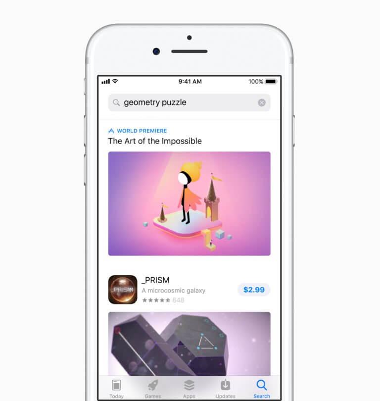 AppStore 2017 Suche