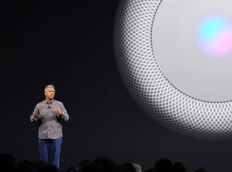 Phil Schiller präsentiert Apple HomePods auf der WWDC 2017
