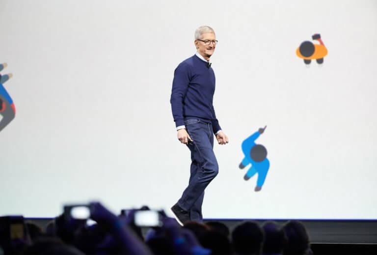 Tim Cook auf der WWDC 2017 Keynote