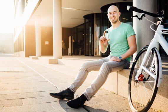 FahrradJäger-Gründer Martin Jäger mit dem insect