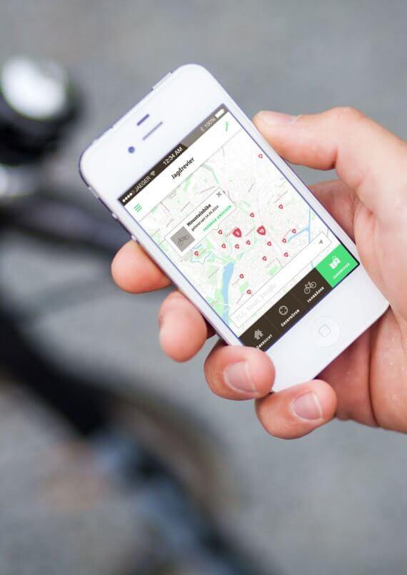Foto der FahrradJäger-App