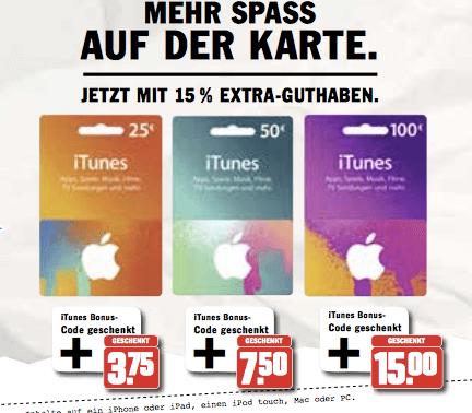 HIT iTunes Karten Aktion