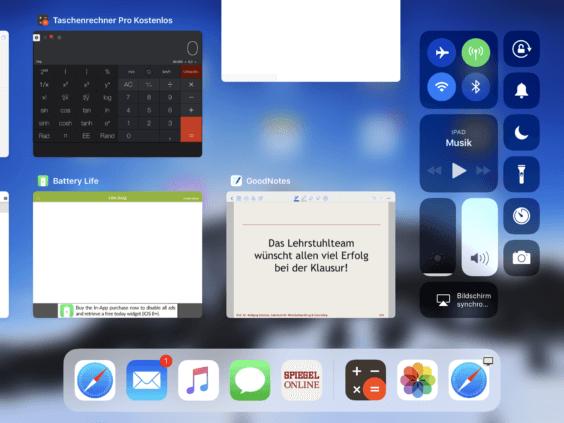 iOS 11 iPad AppSwitcher SC