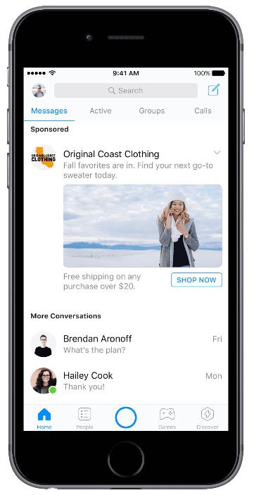 Facebook Messenger-Ads - Facebook