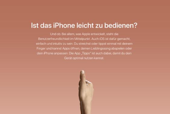 Ein iPhone ist leichter zu bedienen | Screenshot WakeUp Media