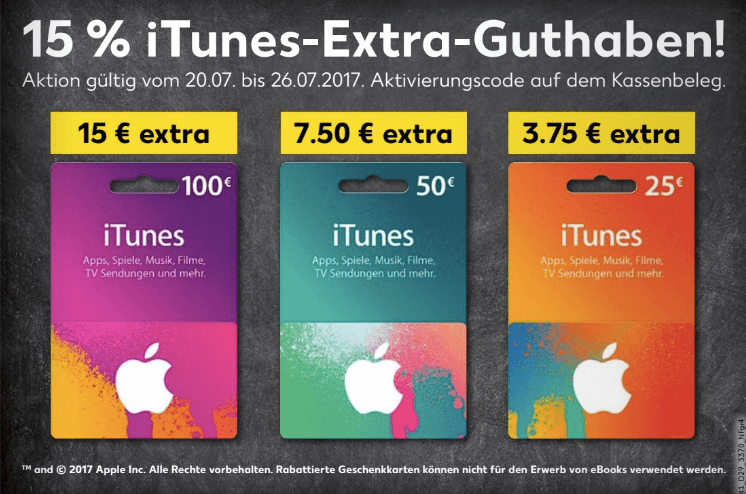 iTunes Karten Kaufland