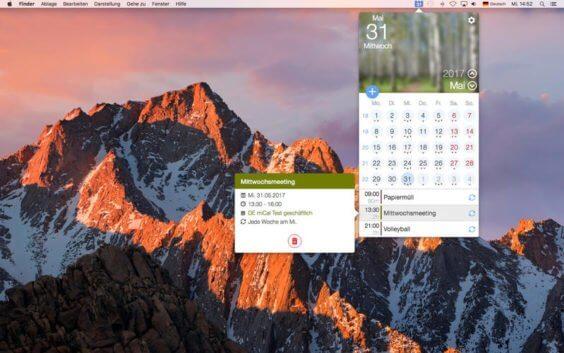 miCal auf dem Mac