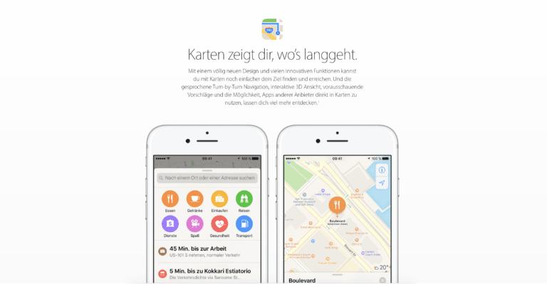 Apple Maps shows you where to go |  Screenshot WakeUp Media