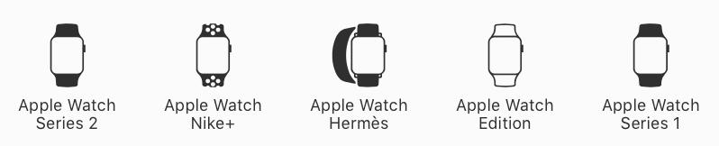 Apple Watch Versionen