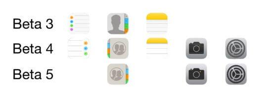 iOS 11 App Icons im Vergleich