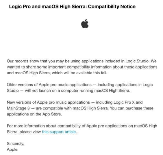 Logic Pro High Sierra SC