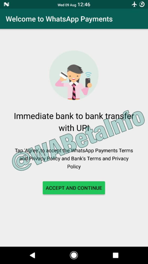 WhatsApp Payment | WABetaInfo