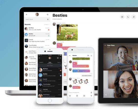 Skype im neuen Design | Screenshot WakeUp Media