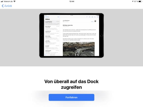 iOS 11 Einführung in das Dock