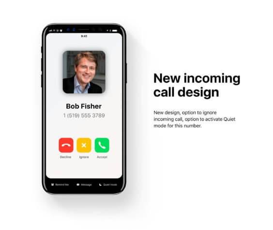 iOS 12 Konzept Annahme Telefongespräch | Prince Studio