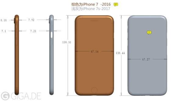 iPhone 7s mögliche Maße | GIGA