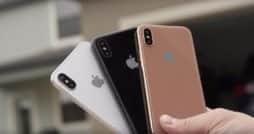 iPhone 8 in weiß, schwarz und Blush gold Rückseite
