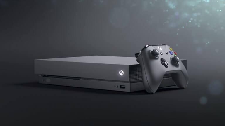 Xbox One X Konsole mit Controller, Bild: Microsoft