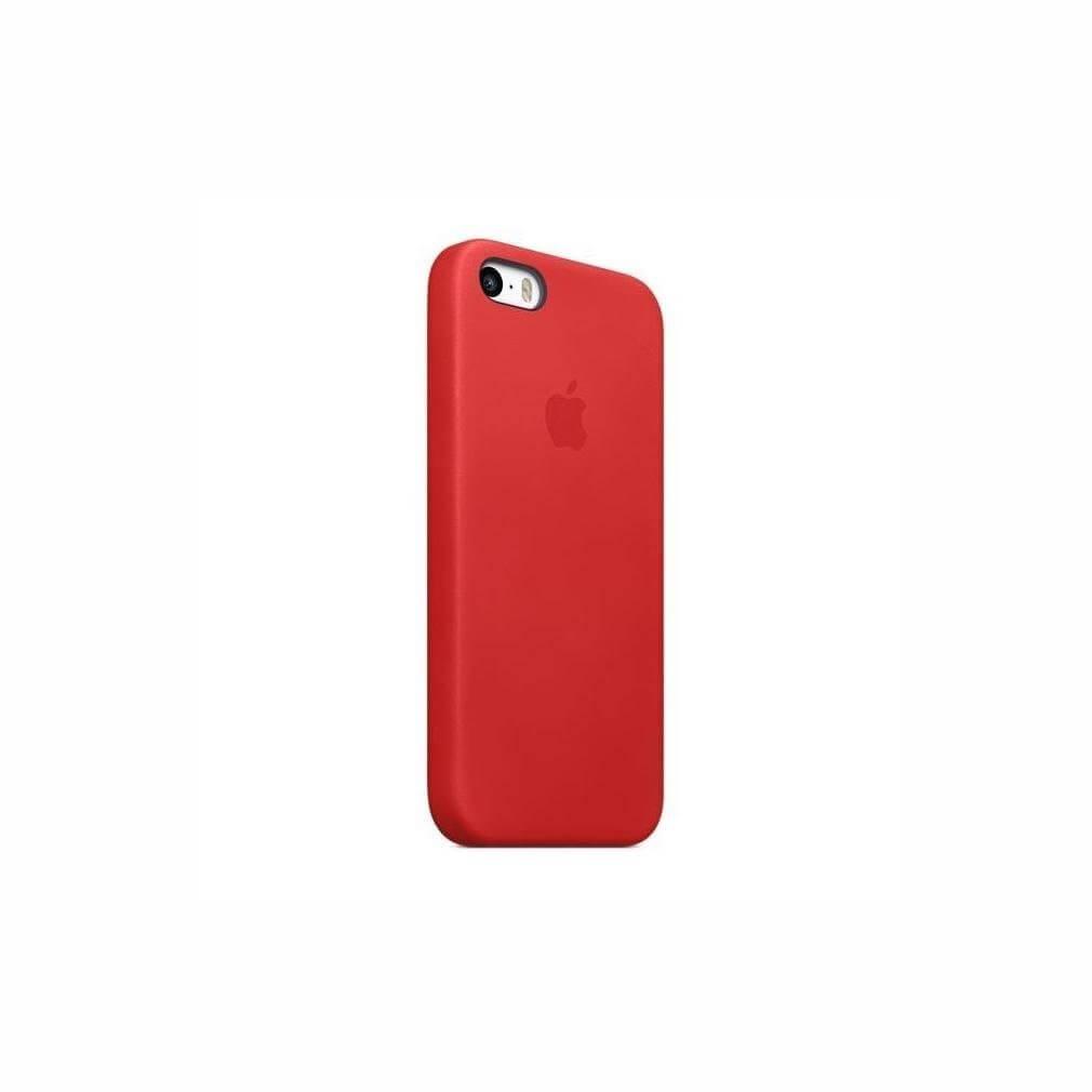 Apple iPhone SE Leder Case Rot