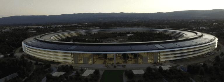 Apple Campus bei Sonnenuntergang   Matthew Roberts